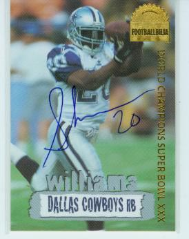 1996 Collector's Edge Cowboybilia Autographs #DCA3 Sherman Williams/4000