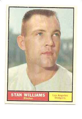 1961 Topps #190 Stan Williams