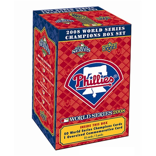 2008 Upper Deck Philadelphia Phillies World Series Champions Commemorative Boxed Set