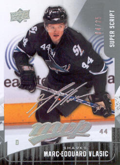 2009-10 Upper Deck MVP Super Script #59 Marc-Edouard Vlasic