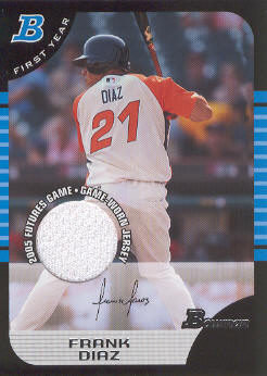 2005 Bowman Draft Futures Game Jersey Relics #149 Frank Diaz