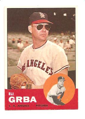1963 Topps #231 Eli Grba UER/(Large photo is Ryne Duren)