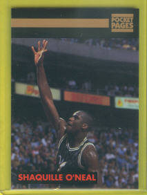 1993 Pocket Pages Trading Card #38 Shaquille O'Neal