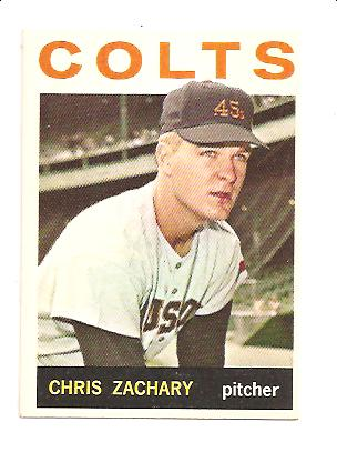1964 Topps #23 Chris Zachary RC
