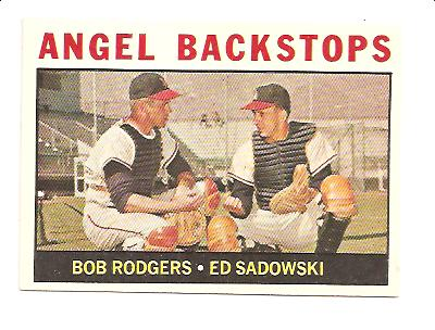 1964 Topps #61 Angel Backstops/Bob Rodgers/Ed Sadowski