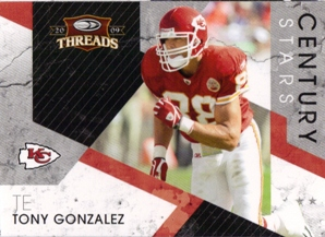 2009 Donruss Threads Century Stars #18 Tony Gonzalez