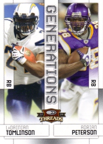 2009 Donruss Threads Generations #8 LaDainian Tomlinson/Adrian Peterson