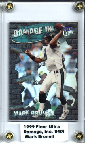 1999 Fleer Ultra Football #4DI Mark Brunell Damage, Inc. Jacksonville JAGUARS NICE!!