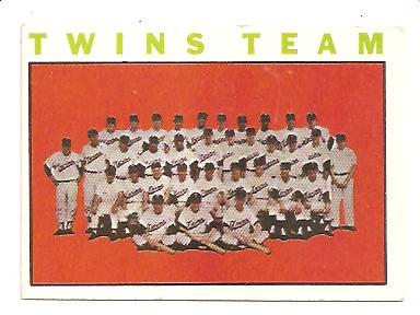 1964 Topps #318 Minnesota Twins TC
