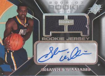 2006-07 SPx #135 Shawne Williams JSY AU RC
