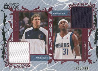 2006-07 Topps Luxury Box Courtside Relics Dual #NT Dirk Nowitzki/Jason Terry