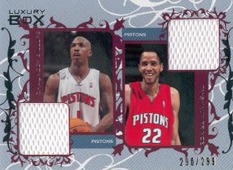 2006-07 Topps Luxury Box Courtside Relics Dual #BP Chauncey Billups/Tayshaun Prince