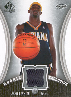 2006-07 SP Authentic Rookie Exclusives Jerseys #JW James White
