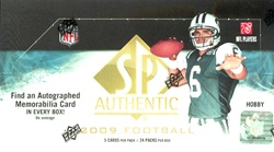 2009 Upper Deck UD SP Authentic NFL Football Sports Trading Cards Hobby Box