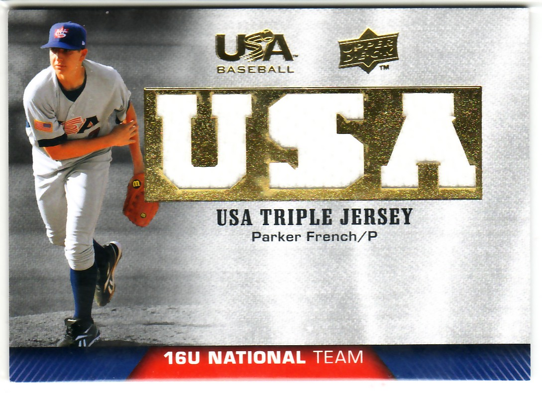 2009-10 USA Baseball 16U National Team Jerseys #PF Parker French