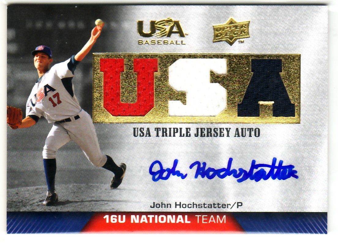 2009-10 USA Baseball 16U National Team Jersey Autographs #JH John Hochstatter