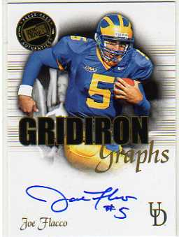 2008 Press Pass SE Gridiron Graphs Gold #GGJF Joe Flacco