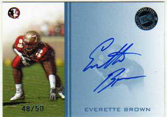 2009 Press Pass Autographs Blue #EB Everette Brown/50
