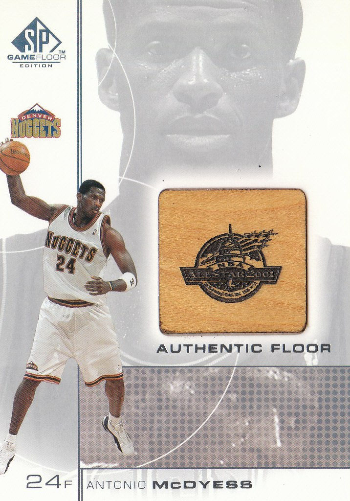 2000-01 SP Game Floor Authentic Floor #MD Antonio McDyess AS
