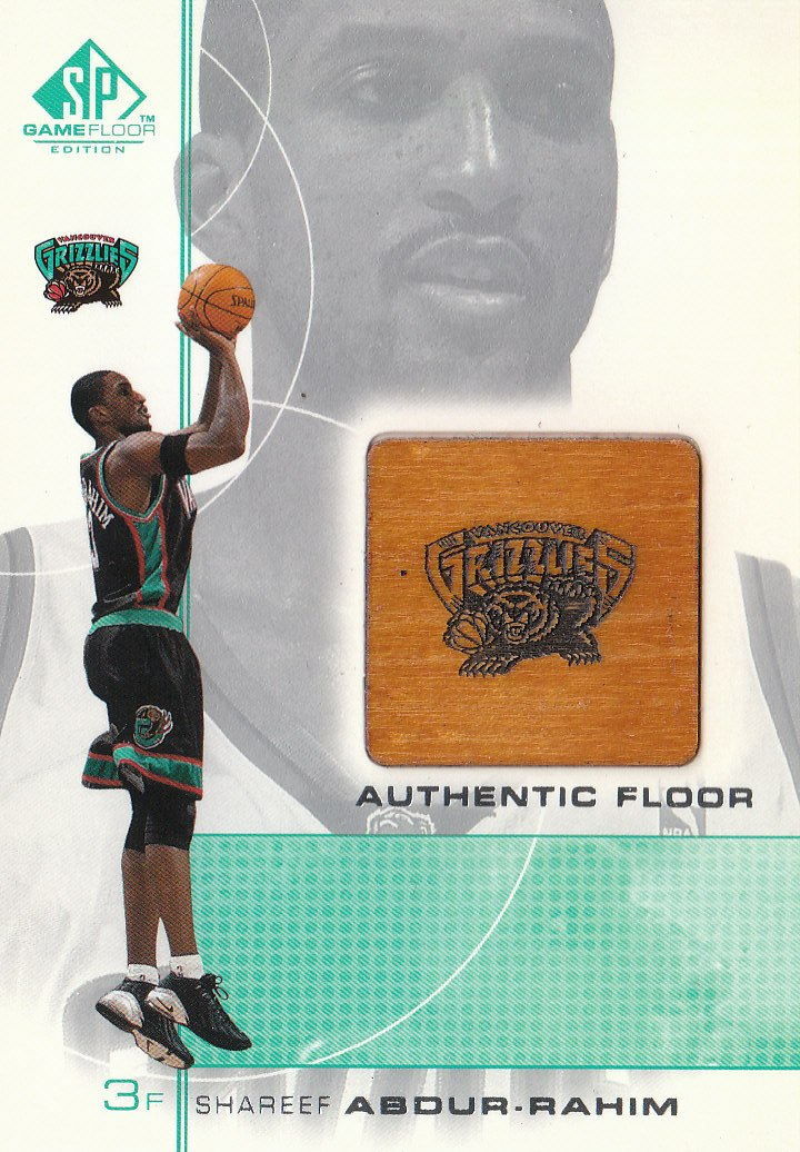 2000-01 SP Game Floor Authentic Floor #SA Shareef Abdur-Rahim