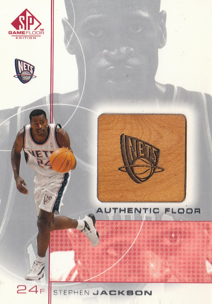 2000-01 SP Game Floor Authentic Floor #SJ Stephen Jackson