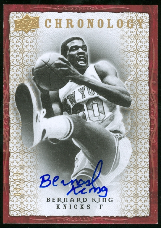 2007-08 Chronology Autographs Gold #4 Bernard King