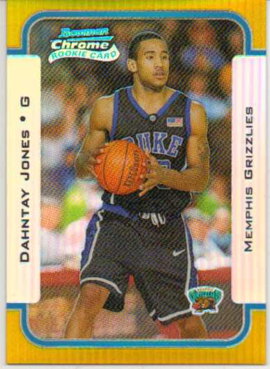 2003-04 Bowman Chrome Refractors Gold #115 Dahntay Jones