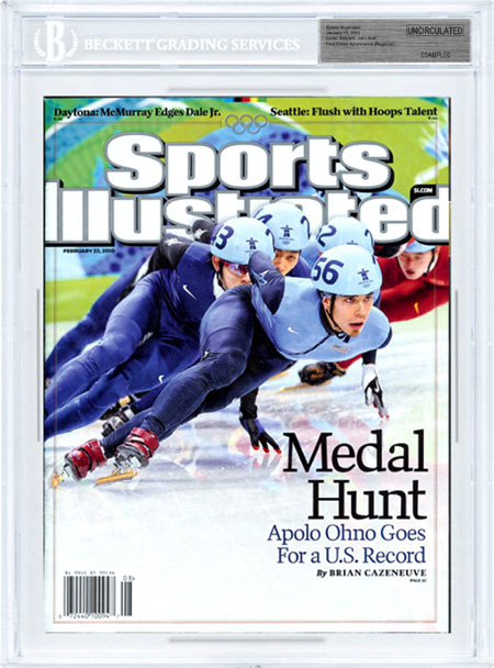 SPORTS ILLUSTRATED BGS SI Uncirculated APOLO OHNO OLYMPICS 2/22/2010