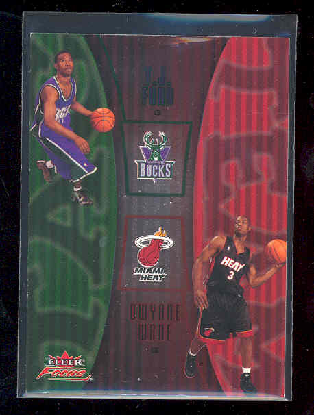 2003-04 Fleer Focus Tag Team #12 T.J. Ford/Dwyane Wade