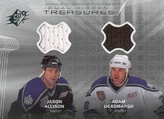 2001-02 SPx Hidden Treasures #DTJD Jason Allison/Adam Deadmarsh