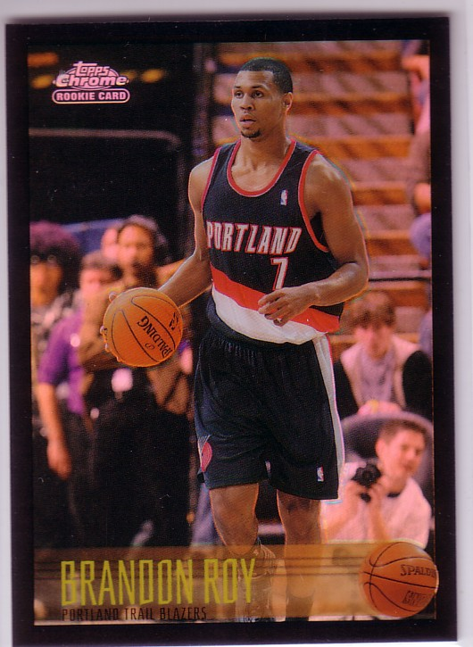 2006-07 Topps Chrome 1996-97 Variations Refractors Black #190 Brandon Roy