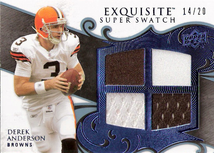 2008 Exquisite Collection Super Swatch Blue #SSAN Derek Anderson