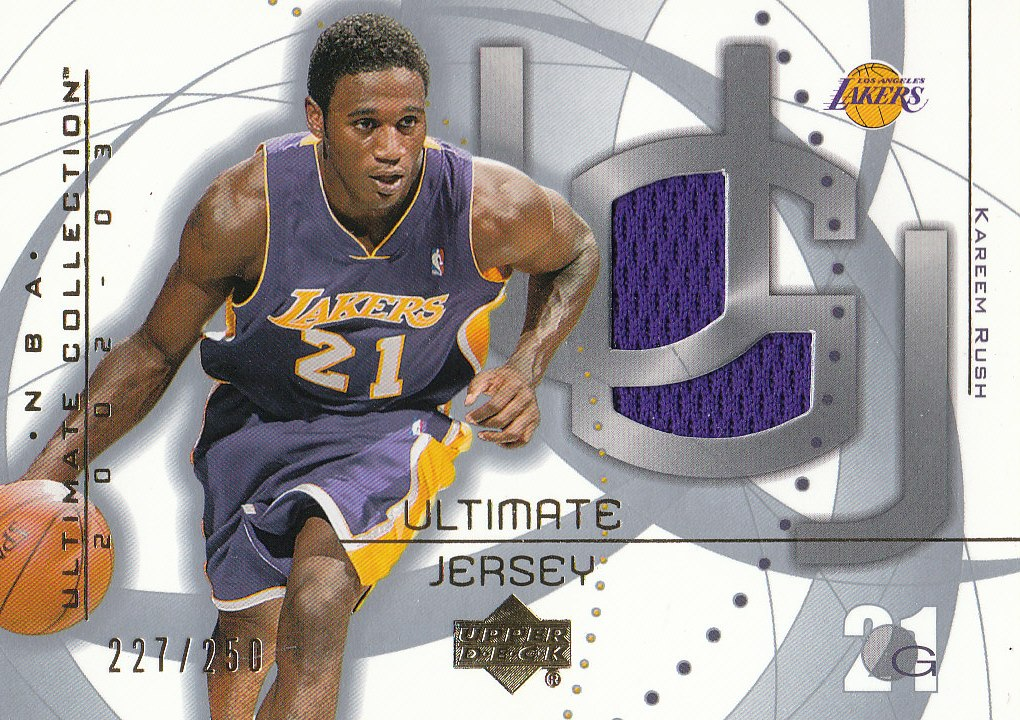 2002-03 Ultimate Collection Jerseys #KR Kareem Rush