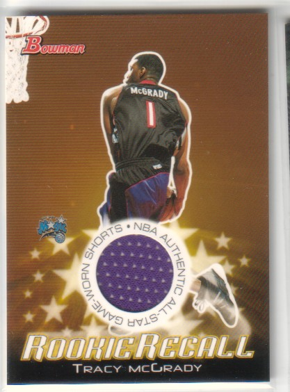 2003-04 Bowman Rookie Recalls #RRETM Tracy McGrady