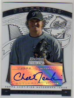 2009 Bowman Sterling Prospects #CJ Chad Jenkins AU