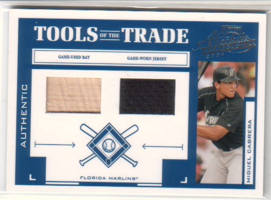 2004 Absolute Memorabilia Tools of the Trade Material Combo #94 M.Cabrera Bat-Jsy/250
