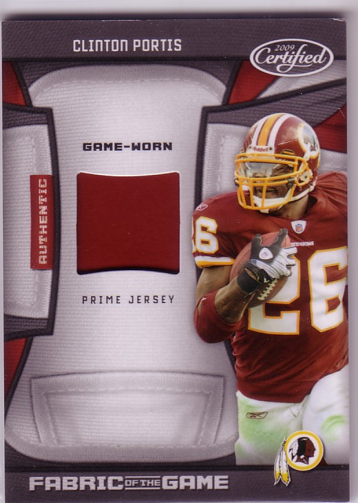 2009 Certified Fabric of the Game Prime #32 Clinton Portis/50