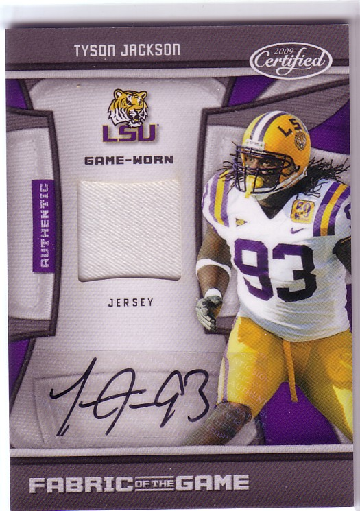 2009 Certified Fabric of the Game College Autographs #2 Tyson Jackson
