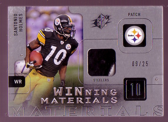 2009 SPx Winning Materials Patch Platinum #WSH Santonio Holmes