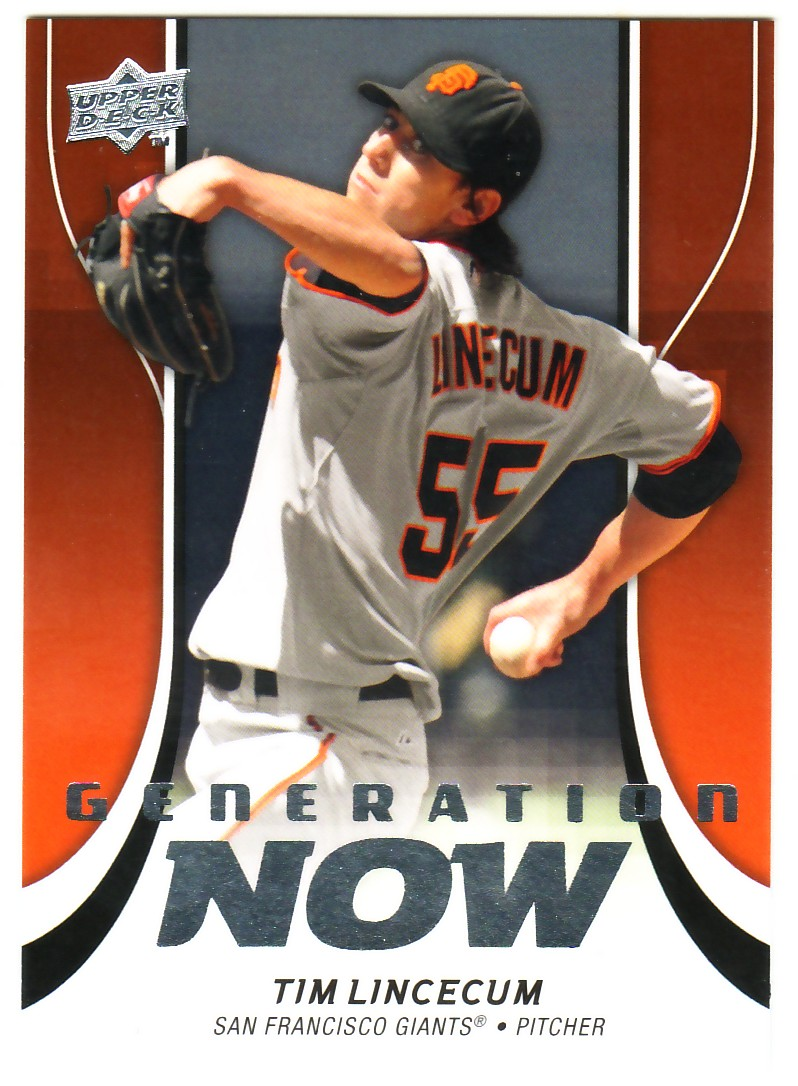 2009 Upper Deck Update Generation Now #GN49 Tim Lincecum