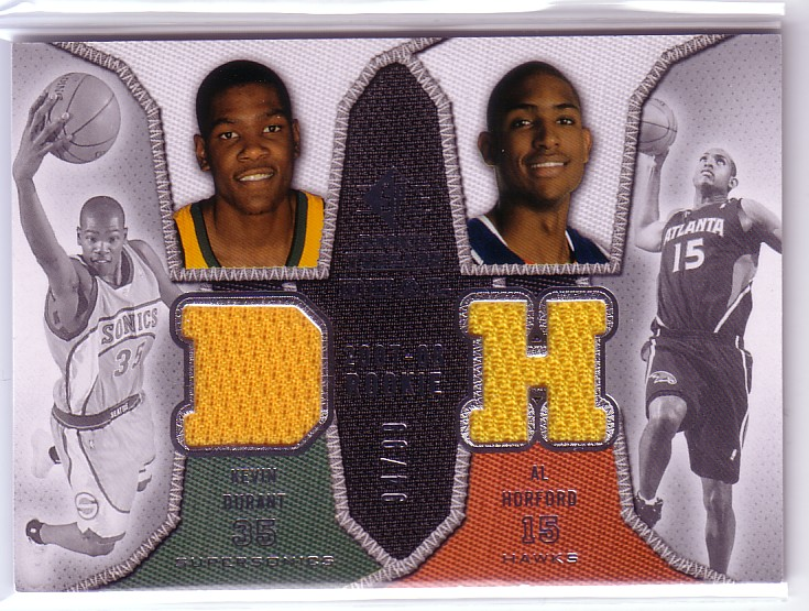 2007-08 SP Rookie Threads Rookie Threads Dual Parallel #DH Kevin Durant/Al Horford