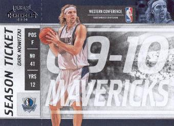 2009-10 Playoff Contenders #4 Dirk Nowitzki