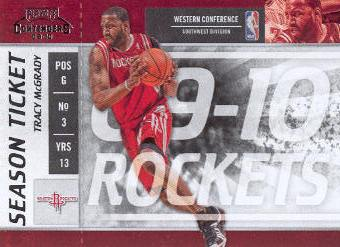 2009-10 Playoff Contenders #12 Tracy McGrady