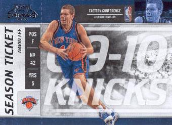 2009-10 Playoff Contenders #16 David Lee