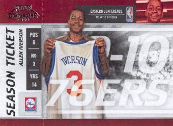 2009-10 Playoff Contenders #18 Allen Iverson