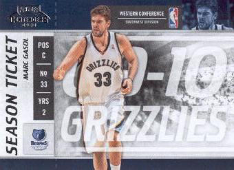 2009-10 Playoff Contenders #19 Marc Gasol