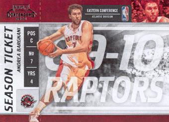 2009-10 Playoff Contenders #28 Andrea Bargnani