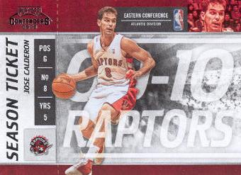 2009-10 Playoff Contenders #31 Jose Calderon