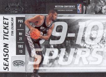 2009-10 Playoff Contenders #34 Tim Duncan