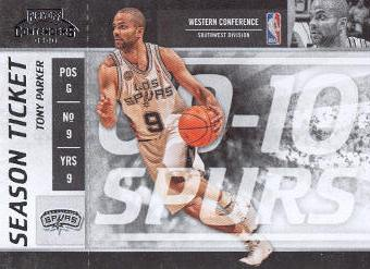 2009-10 Playoff Contenders #35 Tony Parker